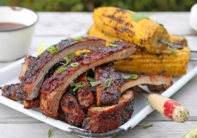 Smoky Barbecue Pork Spareribs