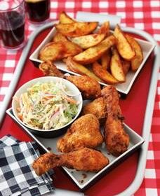 Easy Fried Chicken With Homemade Potato Wedges