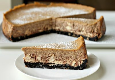 New York-Style Mocha Hazelnut Cheesecake