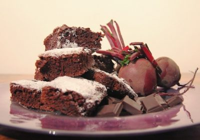 Beetroot And Choc Chip Brownies