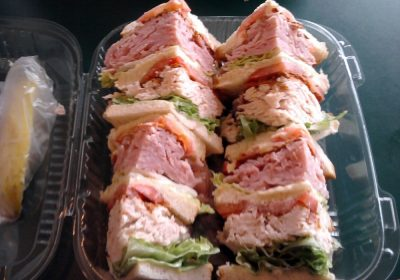 Giant club sandwich